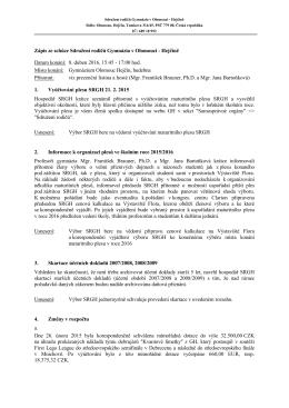 Zápis ze schůze ze dne 8. dubna 2015 - Gymnázium Olomouc