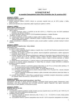 usnesení z jednání dne 16.12.2015