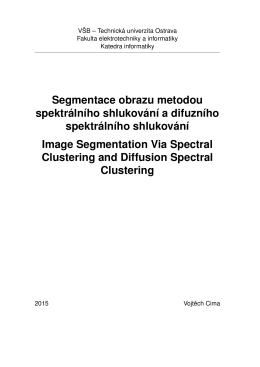 Segmentace obrazu metodou spektrálního shlukování a