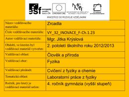 vy_32_inovace_f_ch.1.23 - Sportovní gymnázium Plzeň