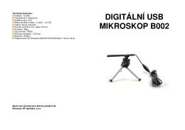 DIGITÁLNÍ USB MIKROSKOP B002
