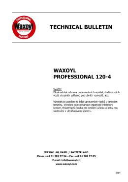 waxoyl professional 120-4