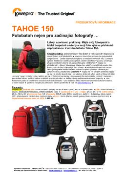 Produktový list Tahoe 150