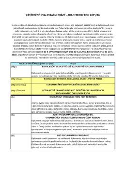 témata kvalifikačních prací 2015-16