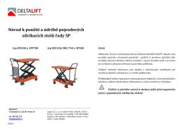 Návod k použití a údržbě pojezdových zdvihacích stolů