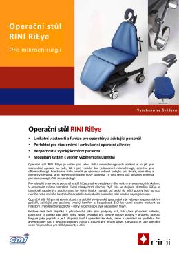 Operační stůl RINI RiEye