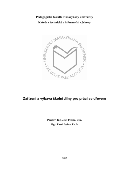 Vybaveni dilny_uprava - Pedagogická fakulta MU