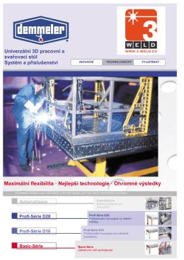 Univerzální 3D pracovní a svařovací stůl, systém a