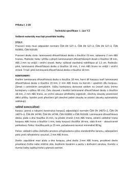Pr. c. 2 ZD Technicka specifikace 1. cast VZ - E