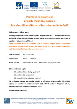 pozvanka kulaty stul 10.2.2015