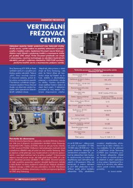 CNC vertikální frézovací centrum LCV500