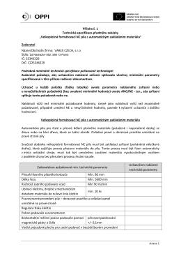 """Příloha č. 1 Technická specifikace předmětu zakázky """"Velkoplošná"""