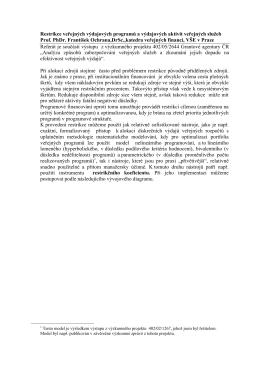 Restrikce veřejných výdajových programů a výdajových aktivit