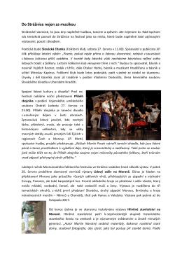 Do Strážnice nejen za muzikou - Mezinárodní folklorní festival