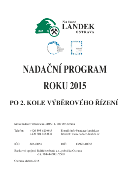 Bez názvu - 2 - Nadace LANDEK Ostrava