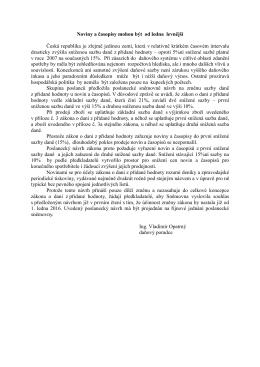 Noviny 10.1.15 DPH noviny a časopisy