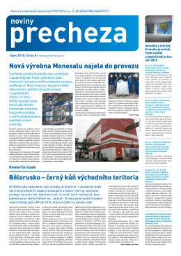 noviny - PRECHEZA as