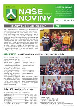 NASE NOVINY - Kulturní zařízení města Ždírec nad Doubravou