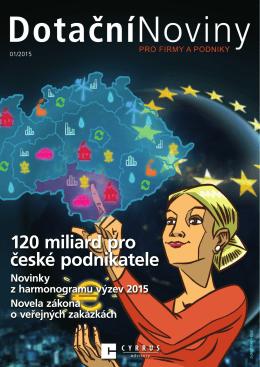 Dotační noviny pro firmy a podniky 01/2015
