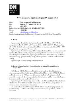 Výroční zpráva DN za rok 2014