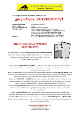 architektura a pozemní stavitelství - Stavební škola Olomouc