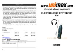 ELEKTRONICKÝ STETOSKOP EM EM410 - Uni
