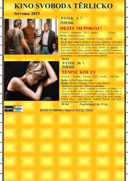 Program kina červenec 2015
