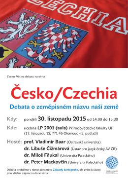 Česko/Czechia Debata o zeměpisném názvu naší země