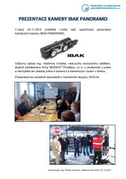 V úterý 24.11.2015 proběhla v sídle naší společnosti prezentace