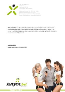 NET and GAMES a. s. – Pro zajištění bezproblémového a
