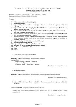 Usnesení ze zasedání zastupitelstva města Hostomice č. 7/2015