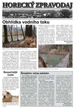 horecký zpravodaj 3/2015
