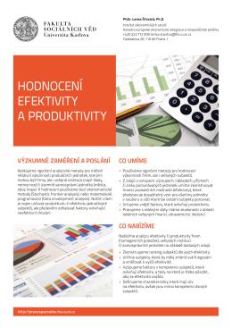 Hodnocení efektivity a produktivity