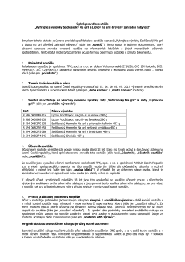 "Úplná pravidla soutěže ""Vyhrajte s výrobky Sedlčanský Na gril a"