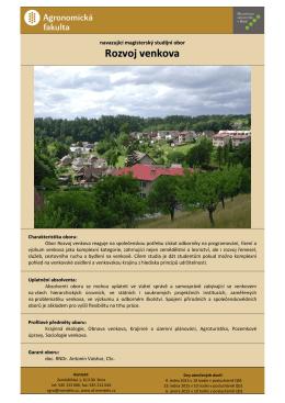 Rozvoj venkova