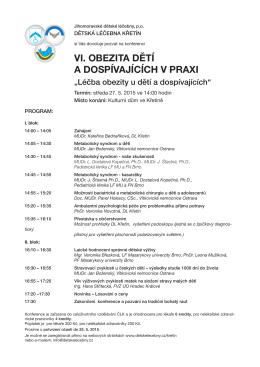 program - Jihomoravské dětské léčebny, p.o.