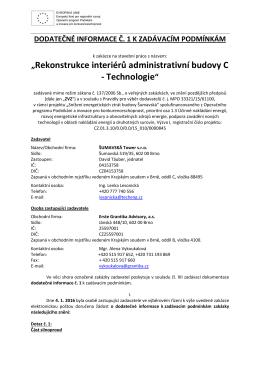 Dodatečné info č_1_FINAL - Erste Grantika Advisory, as
