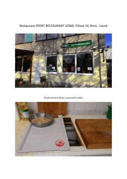 Restaurace SPORT RESTAURANT LESNÁ, Fillova 14, Brno