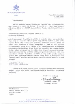 Cardinale Duka_Giornata di Fede_Praga 2015