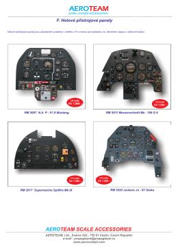Hotové přístrojové panely