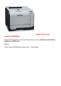 Tiskárna HP Color LaserJet CP2025dn,