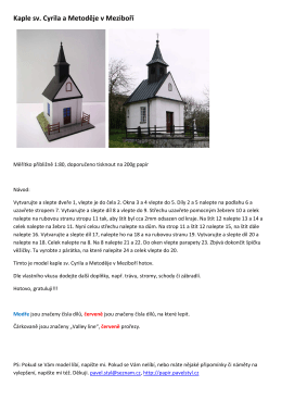 Kaple sv. Cyrila a Metoděje v Meziboří