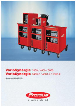 VarioSynergic 3400 / 4000 / 5000 VarioSynergic 3400