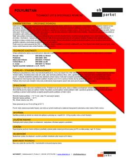Specifikace polyuretanu