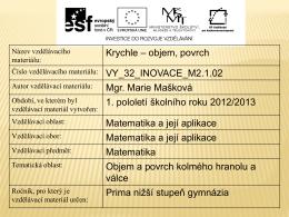 vy_32_inovace_m2.1.02 - Sportovní gymnázium Plzeň