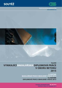 Leták soutěže - Česká betonářská společnost ČSSI