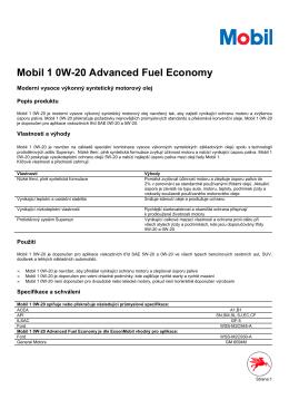 Mobil 1 0W-20 TL 10_07_01 aktualni