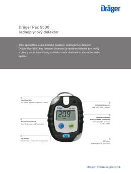 Product information: Dräger Pac 5500