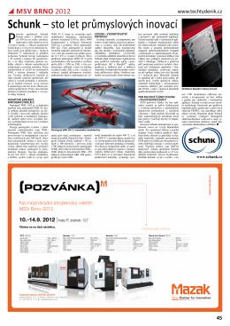 Schunk – sto let průmyslových inovací