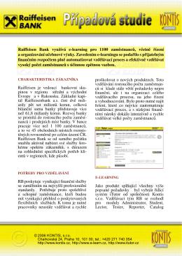 Prohlédněte si případovou studii nasazení LMS ve